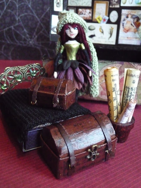 In Tiny House Witchy Little Matchbox Doll