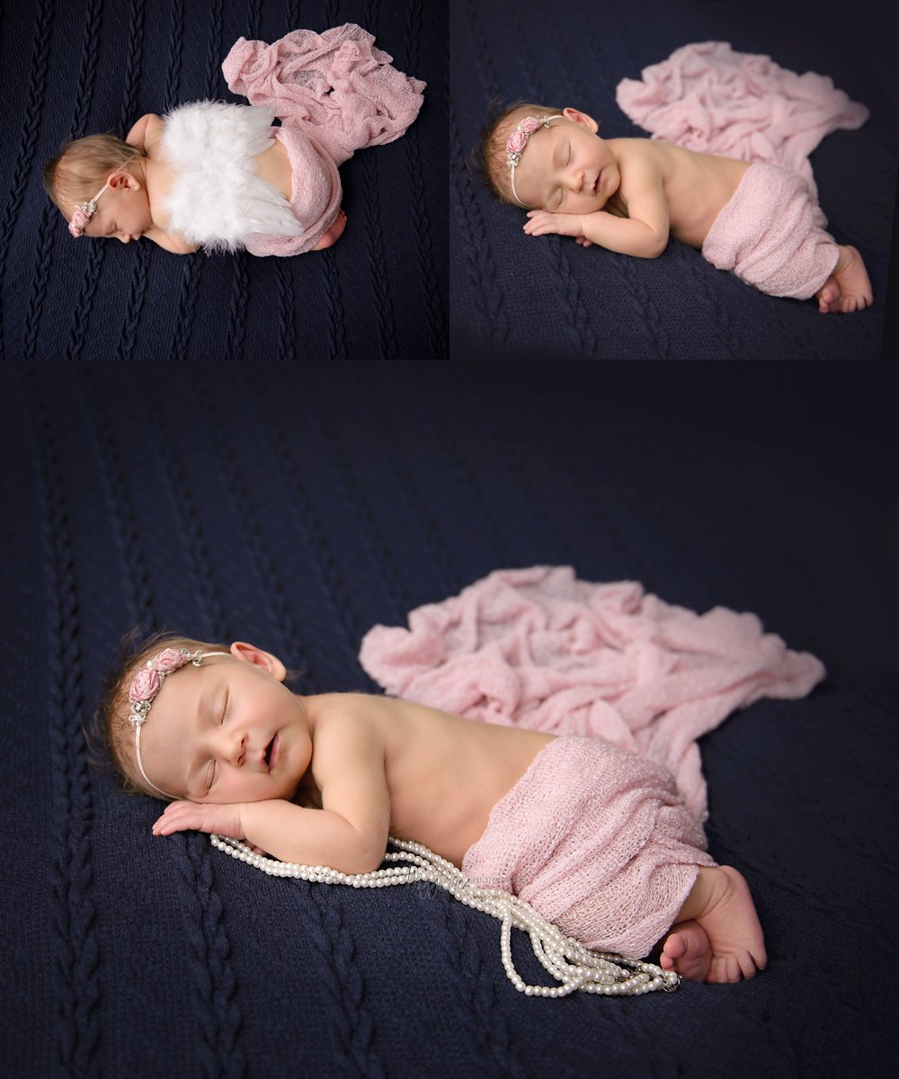 Newborn Baby Girl at Wigglebug Photography's  Indoor studio DeKalb IL Newborn Photographer