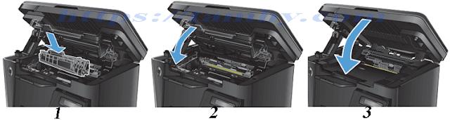 Cách thay Mực máy in Hp M127, M125 (Mực in HP 83A) 5