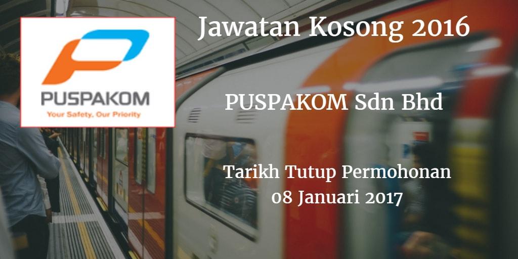 Jawatan Kosong PUSPAKOM Sdn Bhd 08 Janauri 2016