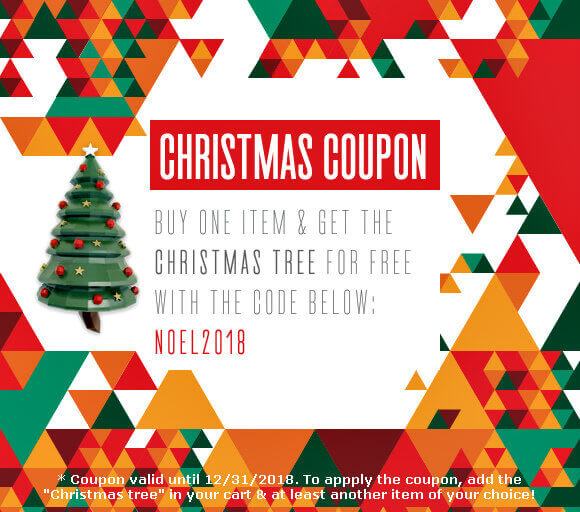 Ecogami Shop Christmas coupon for a free tree template