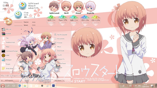 Windows 10 Ver. 1703 Theme Slow Start by Enji Riz
