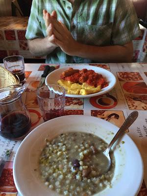 Polenta and barley soup at Rifugio Questa