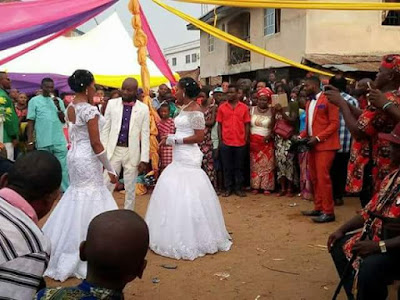 More photos: Man weds two women at same time in Abiriba, Abia State