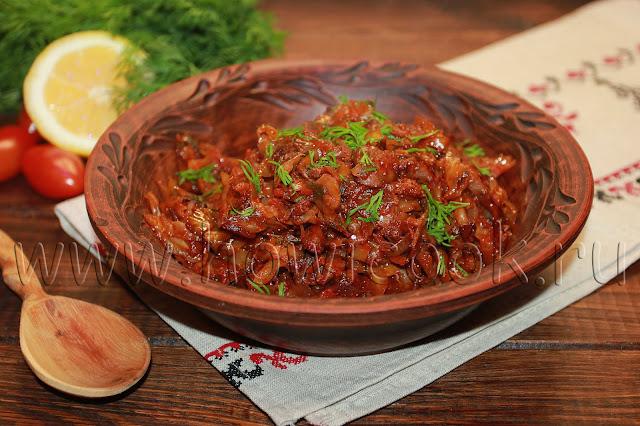 рецепт капусты, тушеной с грибами