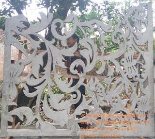 modul panel GRC krawangan motif sulur daun