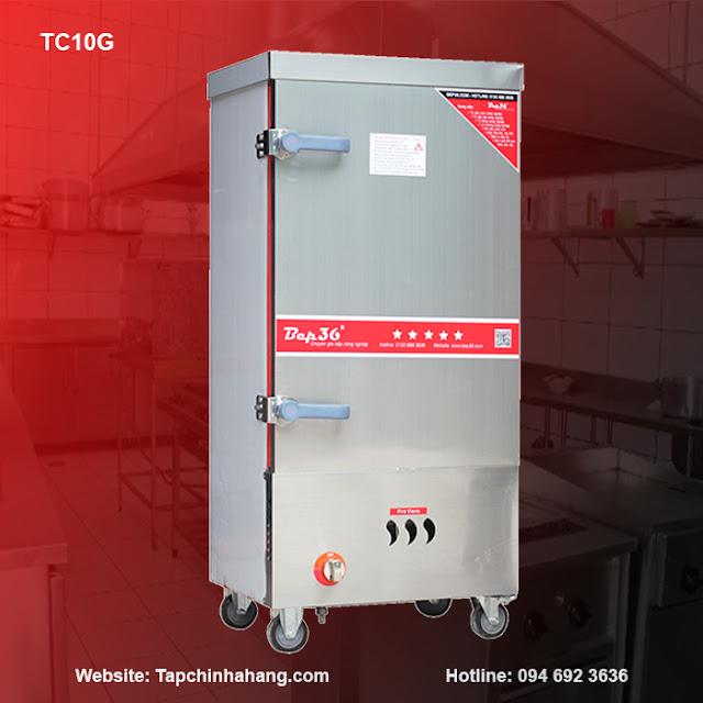 Tủ nấu cơm 10 khay sử dụng gas TCG10-2018
