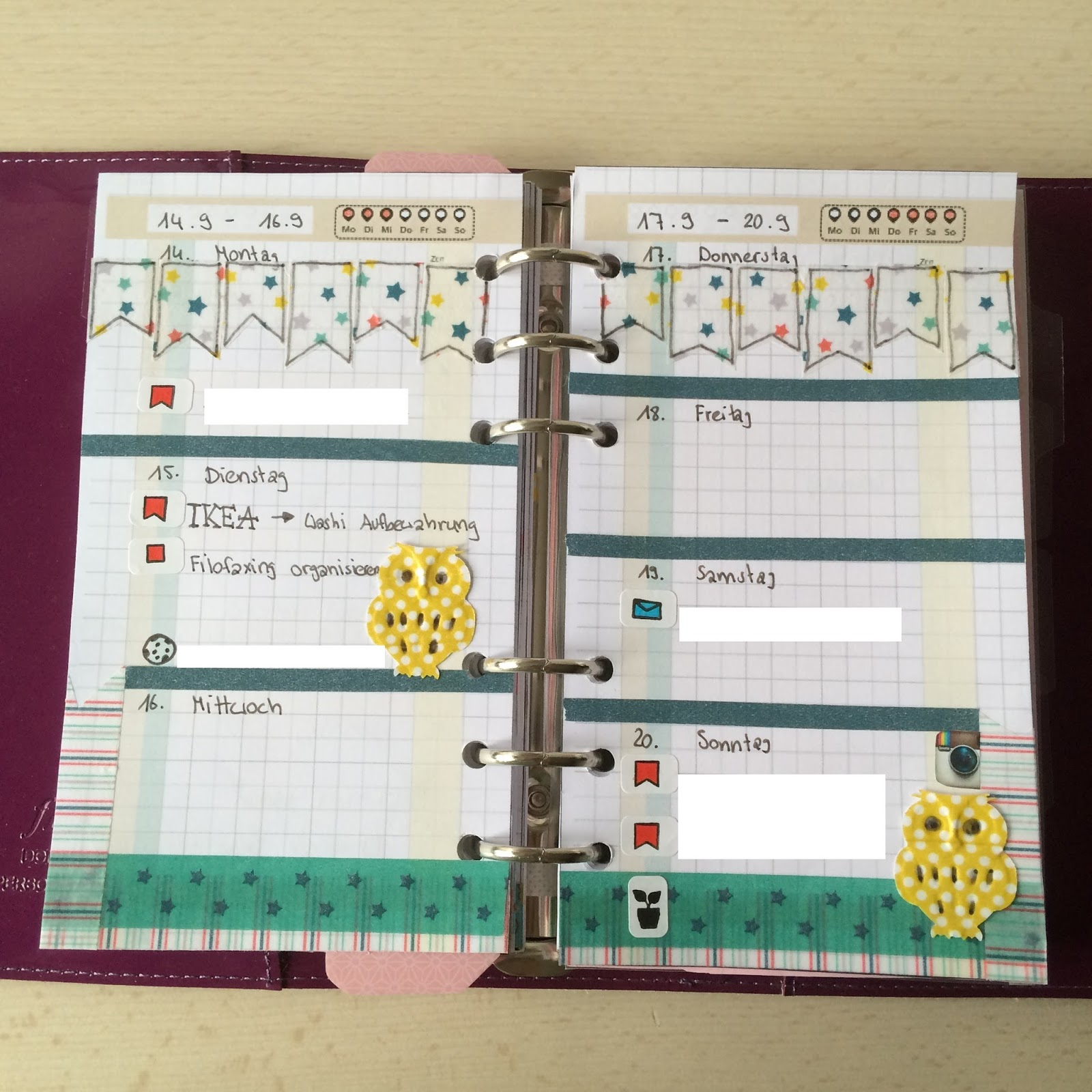 Franzis Filofax World Plan With Me Woche 1
