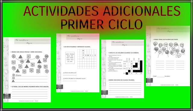 ACTIVIDADES ADICIONALES-PRIMER CICLO