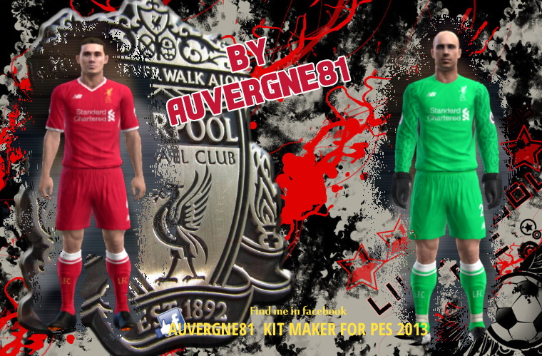 PES 2013 Liverpool 2018 home and GK kits by Auvergne81