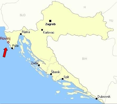 Rovinj Croatia Map