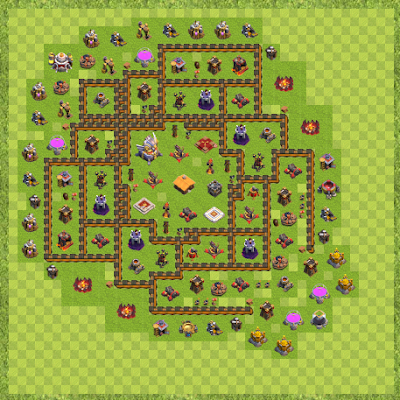 War Base Town Hall Level 11 By ITS.KJ (TH 11 idea 12/18 Layout)