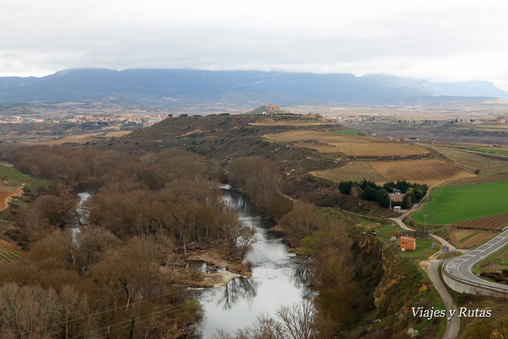 Río Ebro y San Vicente de la Sonsierra, vistas desde Haro
