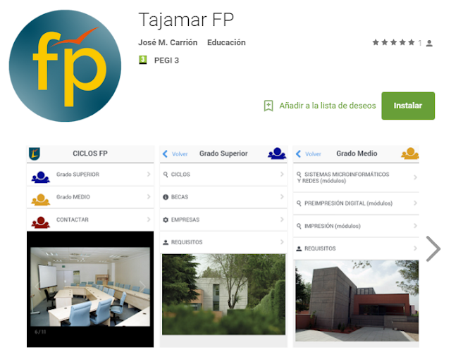 App FP-Tajamar en Google Play