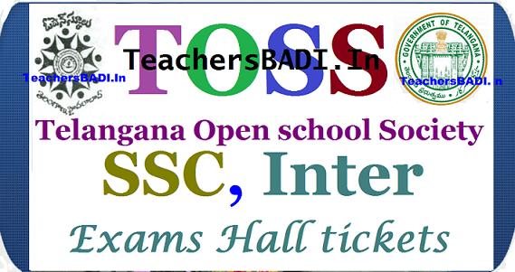 TOSS hall tickets, SSC Inter Hall Tickets, TS Open school Hall tickets,