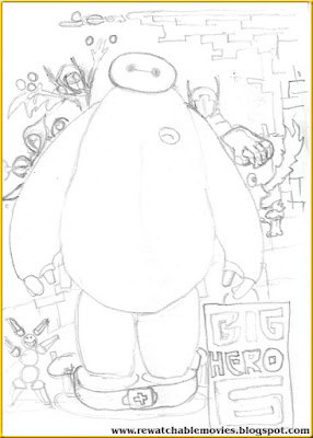 Big Hero 6 Thematic Sketch Poster