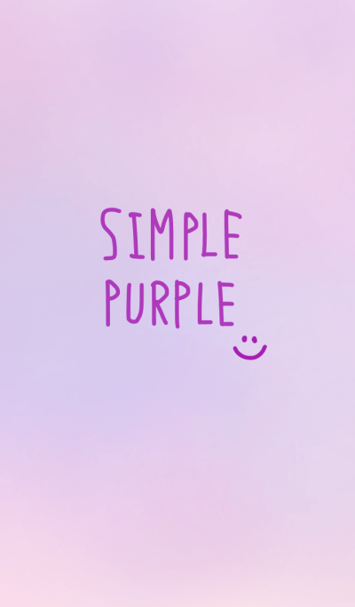simple cute purple