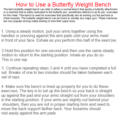 Weight butterfly – how to use a butterfly weight bench