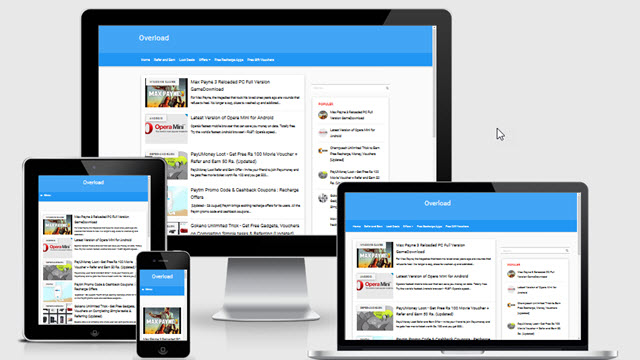 Simple Blue SEO Responsive Blogger Template
