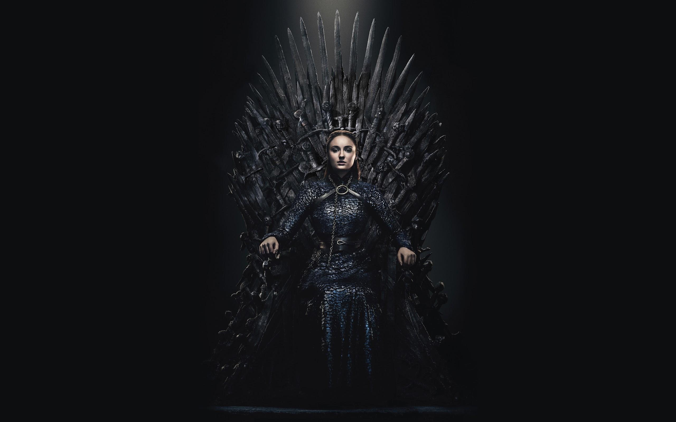 Sansa Stark Game Of Thrones Iron Throne Season 8 8k Wallpaper 86
