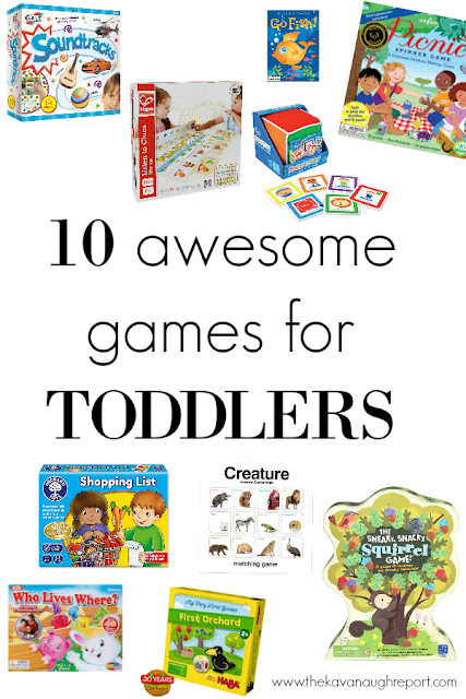 10 awesome games for toddlers. These fun games help to promote listening, sequencing, and memory skills in a fun and engaging way.