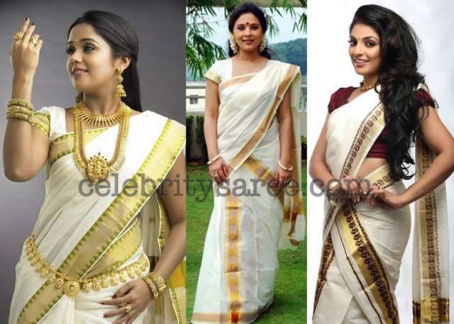 Kerala traditional saree but not