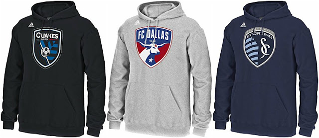 Adidas MLS Hooded Sweatshirts $30 (reg $60)