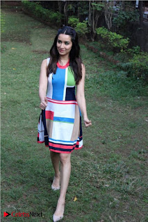 Bollywood Actress Shraddha Kapoor Latest Stills in Colourful Short Dress at OK JAANU Movie Press Conference  0007.jpg