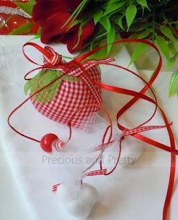 Greek christening strawberry favors B025