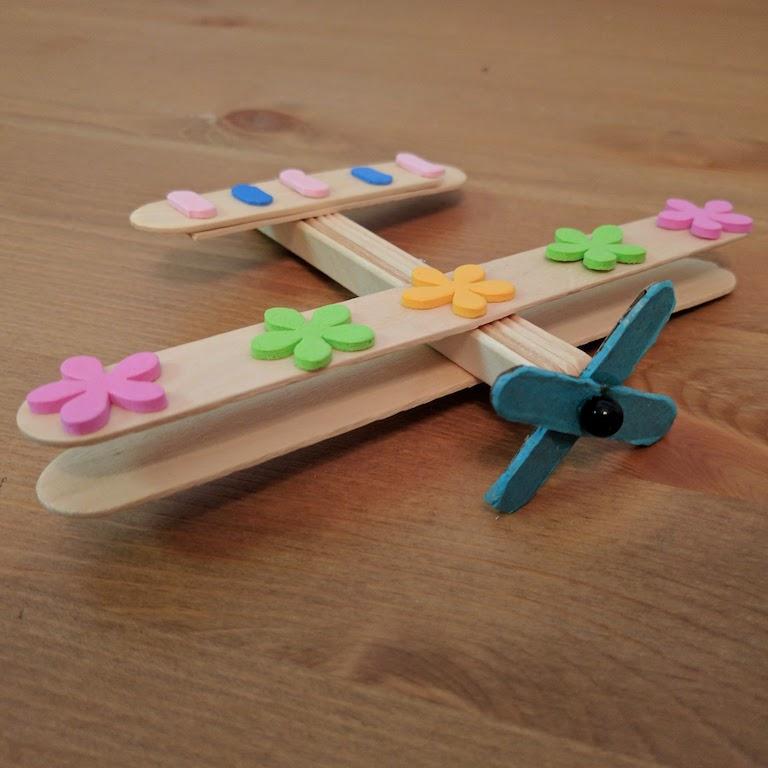 STEM Crafts Project Aeroplane Airplance Wood Sticks Craft Idea STEAM