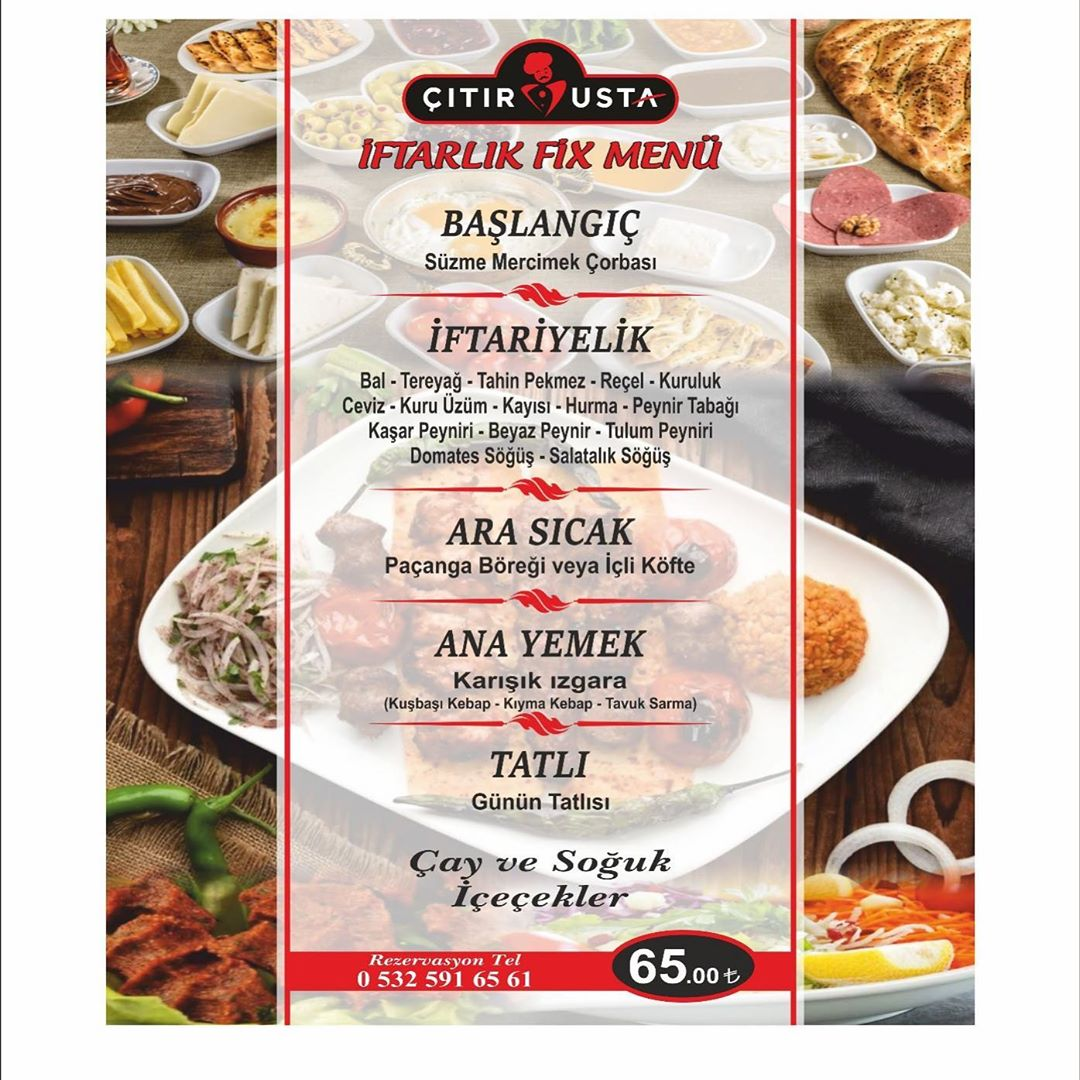 çıtır usta primemall gaziantep iftar menu gaziantep iftar restoranları ramazan 2019