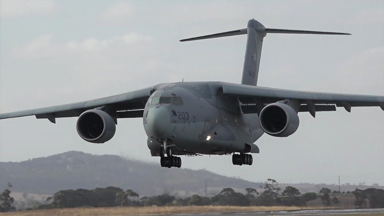 Japan's Kawasaki C-2 at 2019 Avalon Airshow