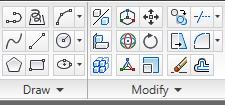 toolbar menggambar 2D pada autocad