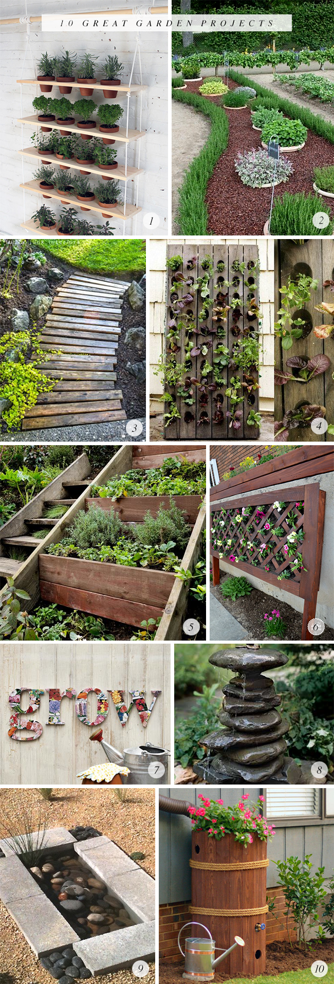 10 Great Garden DIY Projects (via Bubby and Bean)