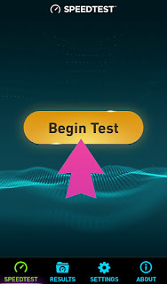 Click on beging Test