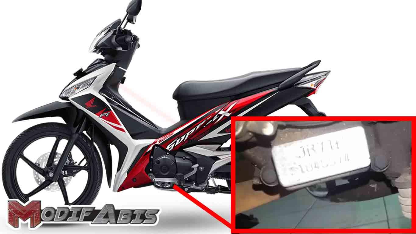 Letak No Mesin Dan No Rangka Honda Supra X 125 Cc Modif Abis