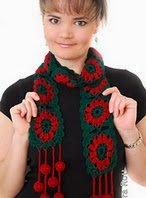 http://www.ravelry.com/patterns/library/jingle-bells-christmas-festive-holiday-scarf-free-crochet-pattern-pdf