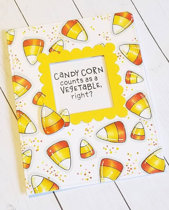 Newton's Nook Designs  - Fan Feature Week -  Halloween Card by Darcy Webb using Candy Corn Stamp Set by Newton's Nook Designs #newtonsnook #handmade