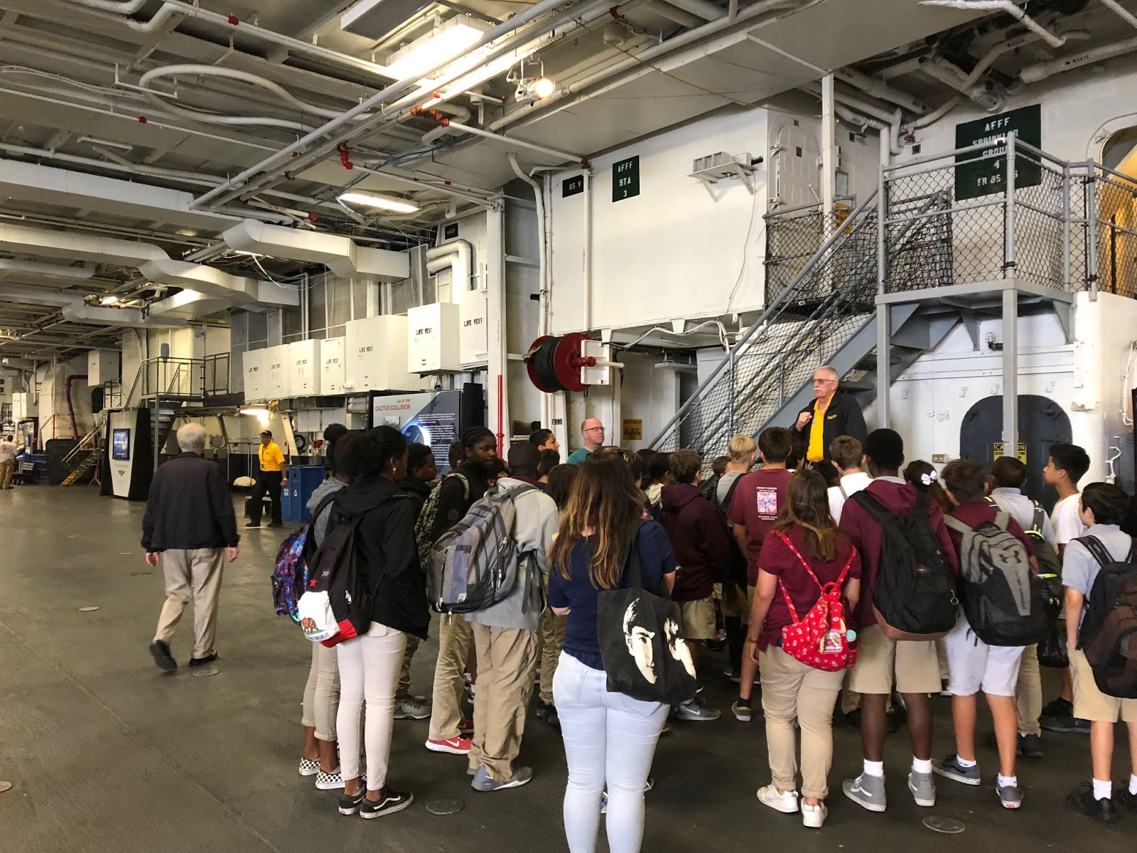 News: Roosevelt Middle School Visits the U S S  Midway