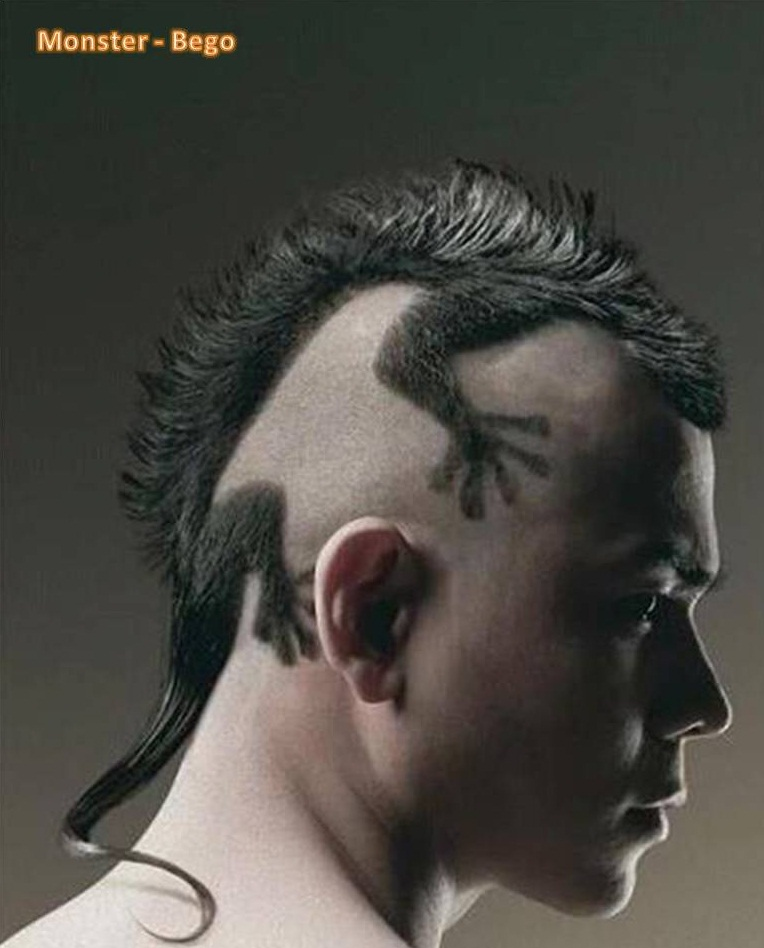 Monster Bego: Rambut Punk Gaya Kadal (Mohawk Lizard Style)
