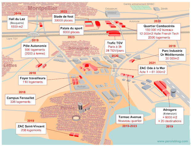 Projets d'urbanisme à Pérols