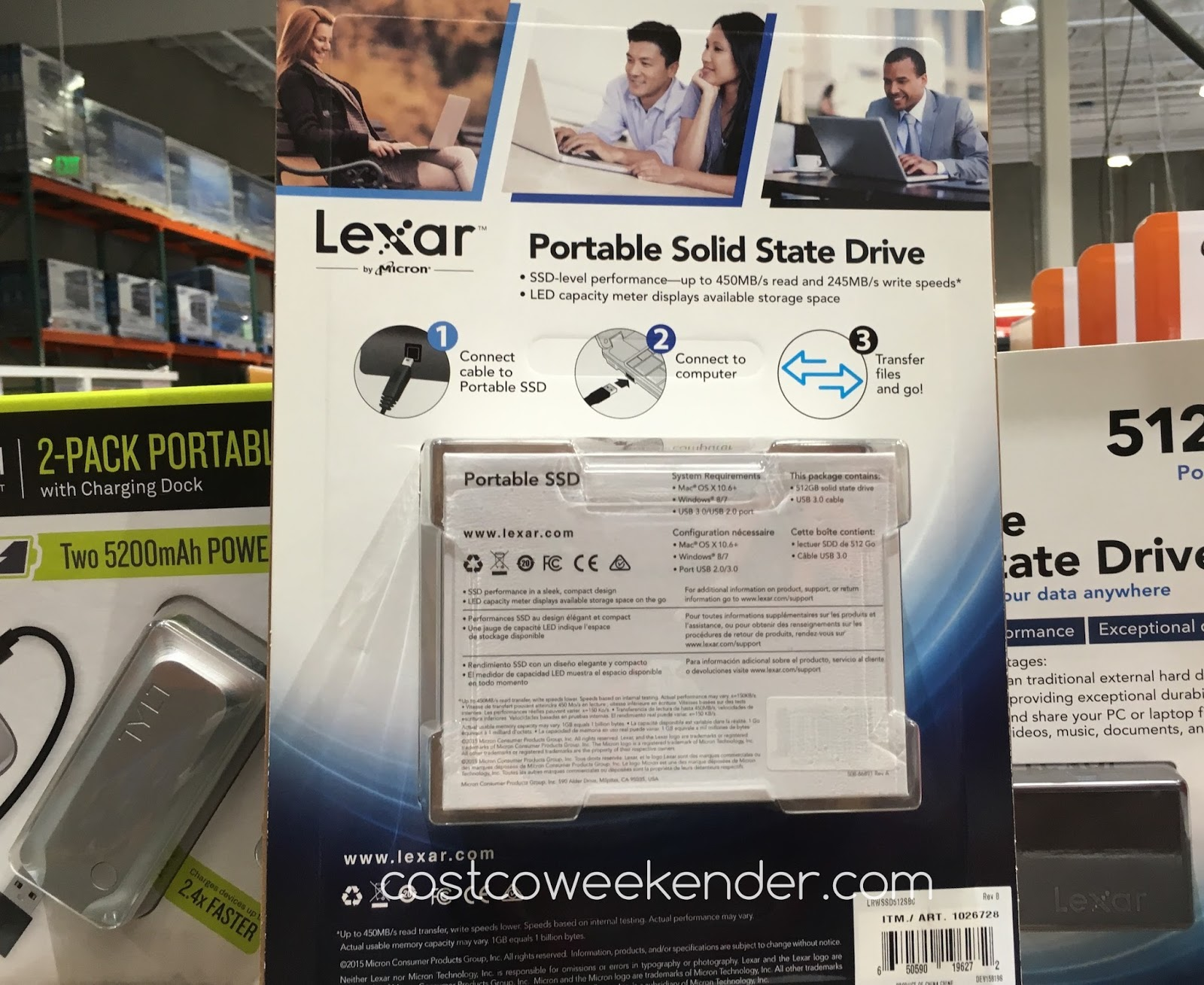 Lexar 512gb Portable Solid State Drive | Costco Weekender