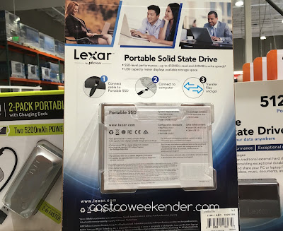 Costco 1026728 - Micron Lexar 512gb Portable Solid State Drive - less susceptible to corruption than standard hard drives