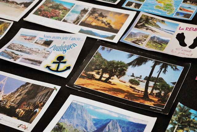 Postcards wallart
