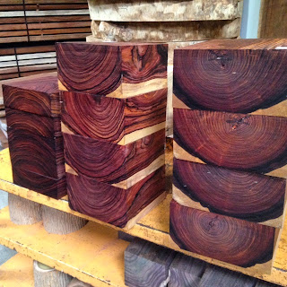 Tropical Exotic Hardwoods Cocobolo Bowl Turning Blanks