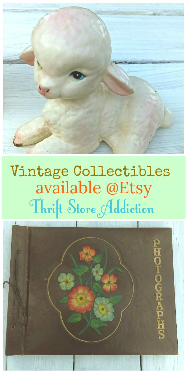 Vintage collectibles available at Thrift Store Addiction