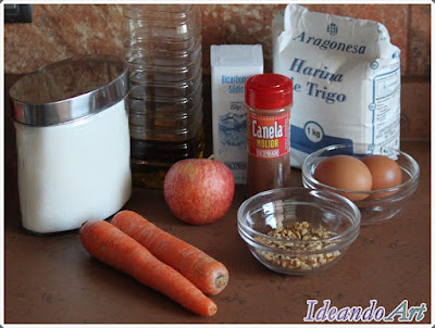 Ingredientes tarta de zanahoria