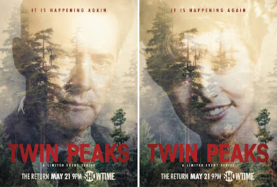 "Twin Peaks Season 3 ""It Is Happening Again"" Character Posters - Kyle MacLachlan as Special Agent Dale Cooper & Sheryl Lee as Laura Palmer"