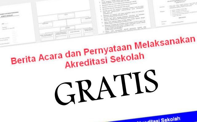 Download Contoh Pernyataan Dan Berita Acara Akreditasi GRATIS