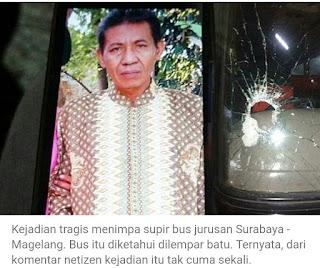 Terluka Kena Lempar Batu Sopir Bus Eka Tewas Setelah Selesaikan Antar Penumpang